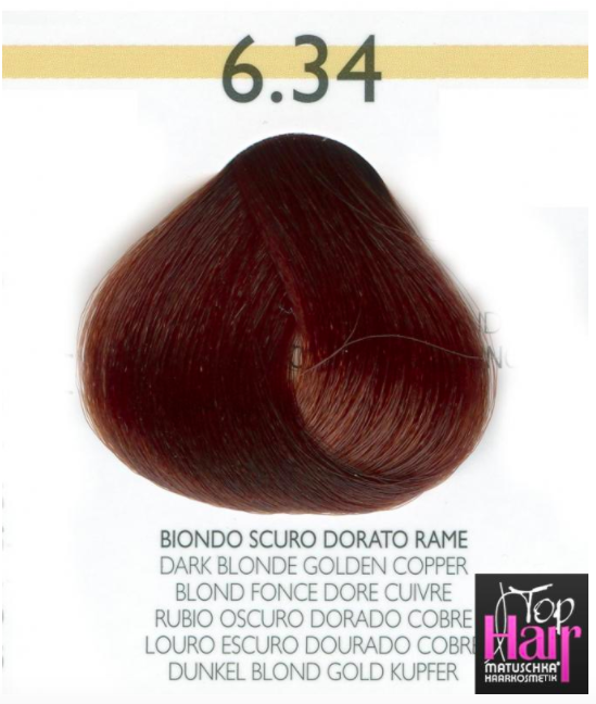 Puring Tutto colors 6.34 BIONDO SCURO DORATO RAME 100ml